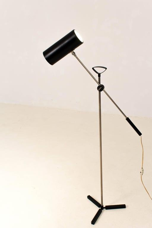 midcentury modern floor lamp by j j m hoogervorst for anvia 1960s