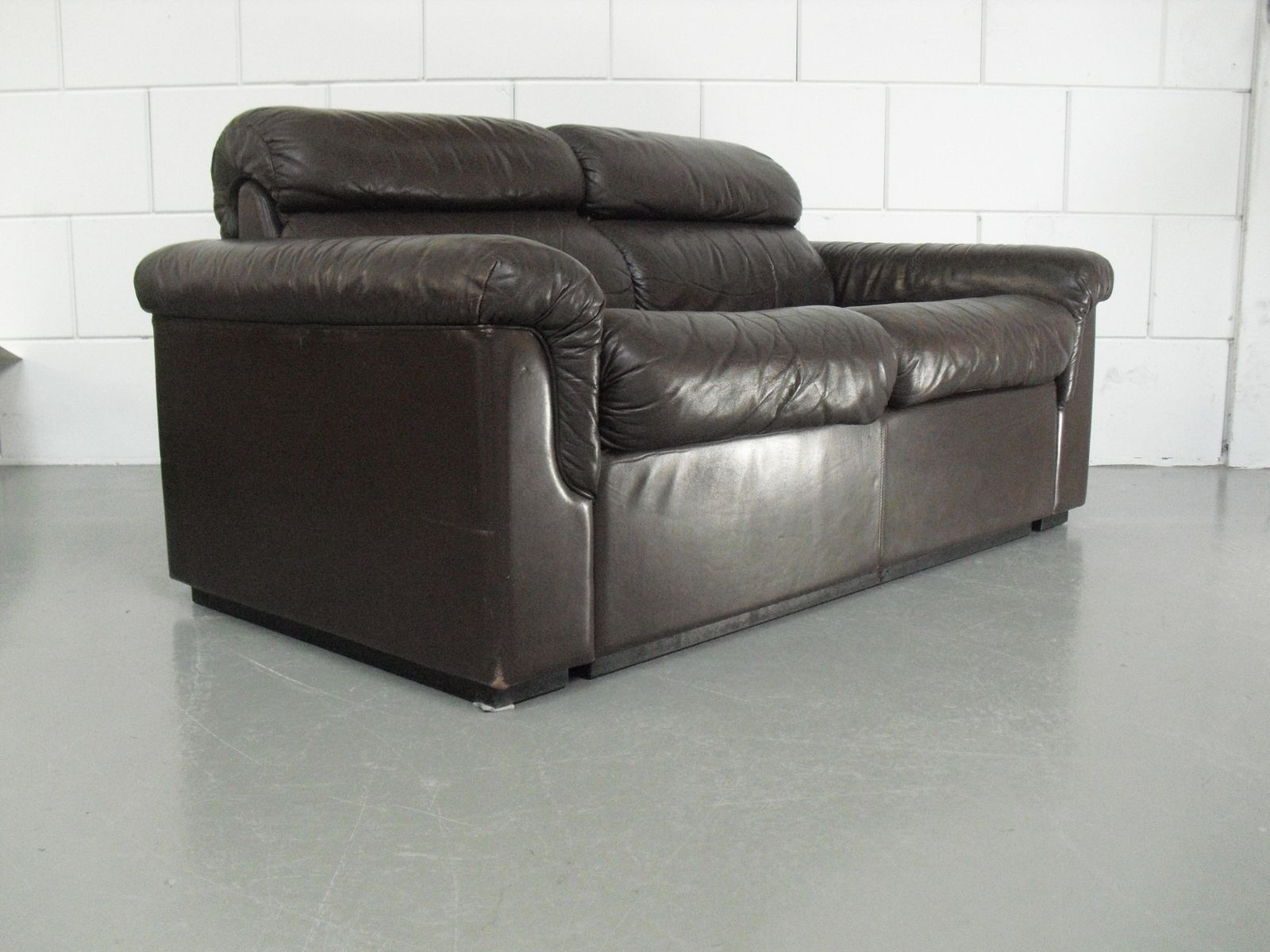 Soft Leather Two Seater Sofa By Oy BJ Dahlqvist Ab For BD Furniture, 1960s