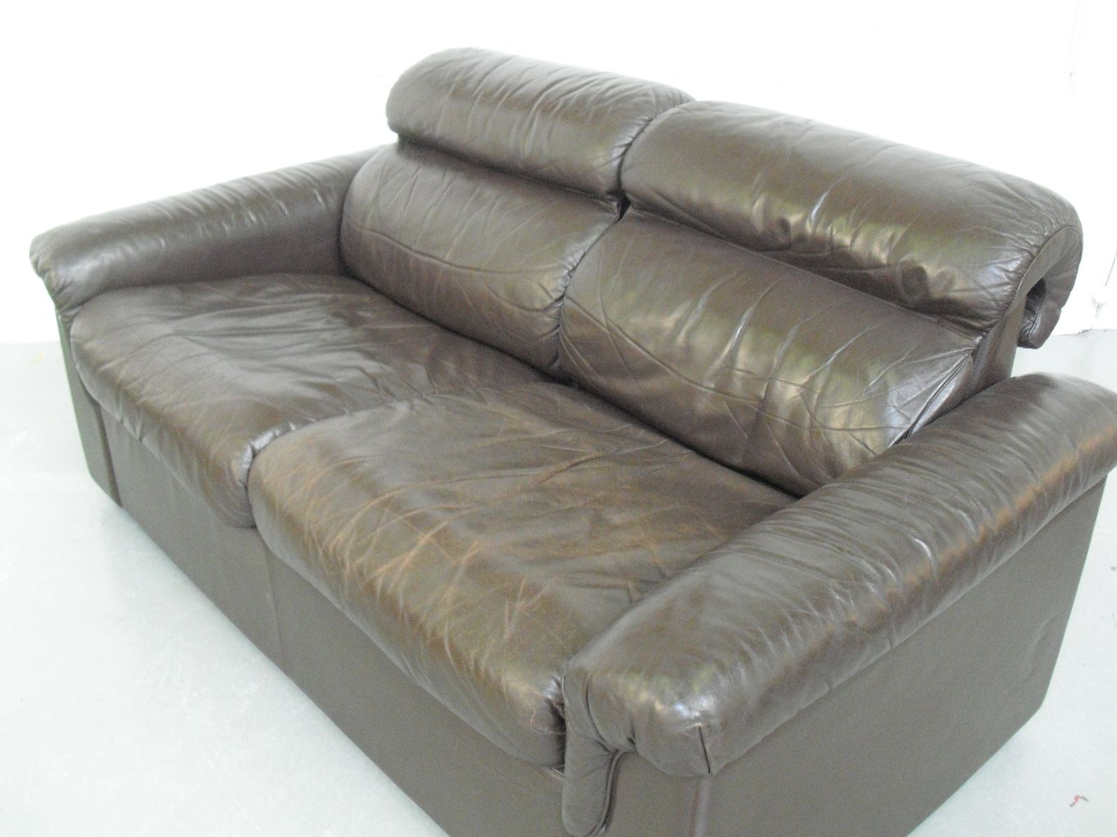 soft leather two seater sofaoy bj dahlqvist ab for bd