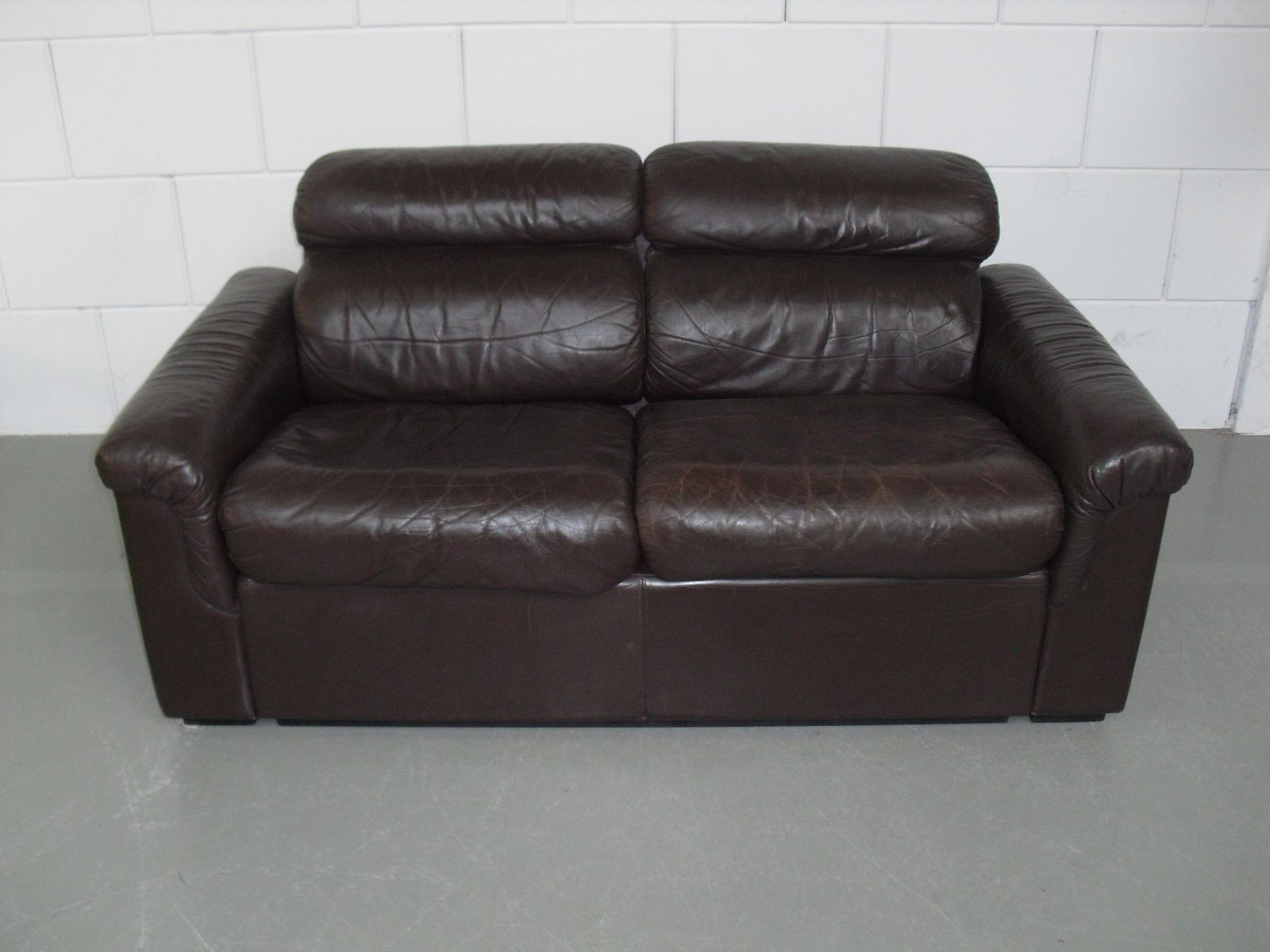 Soft Leather Two Seater Sofa By Oy Bj Dahlqvist Ab For Bd Furniture 1960s For Sale At Pamono