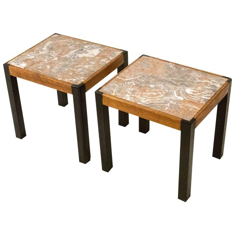 Mid century modern occasional tables with marble tops for Designer occasional tables