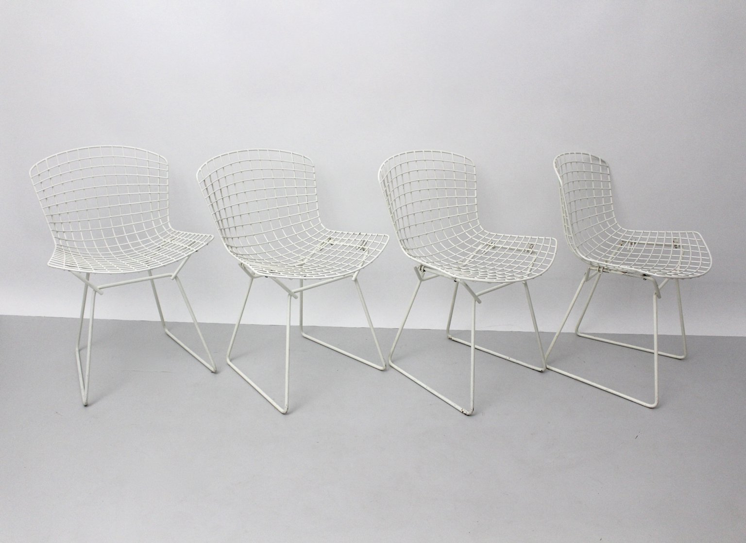 Model 420 C Dining Chairs by Harry Bertoia for Knoll, Set of 4 for ...