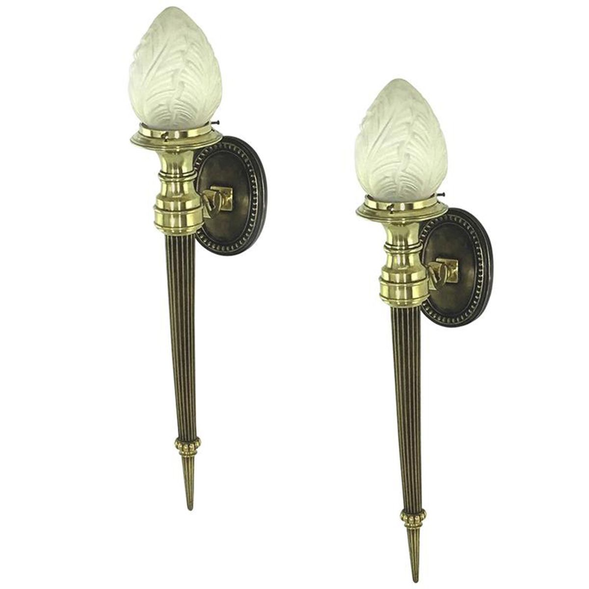 Wall Sconces Set Of 2 : Neo Classical Wall Sconces, 1950, Set of 2 for sale at Pamono