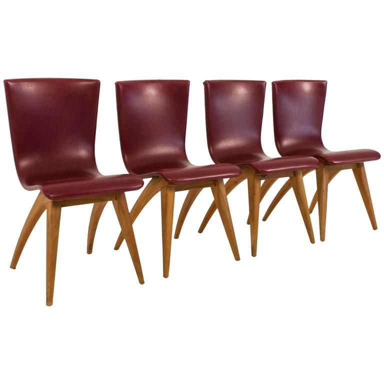 mid century swing st hle von g os culemborg 4er set bei pamono kaufen. Black Bedroom Furniture Sets. Home Design Ideas