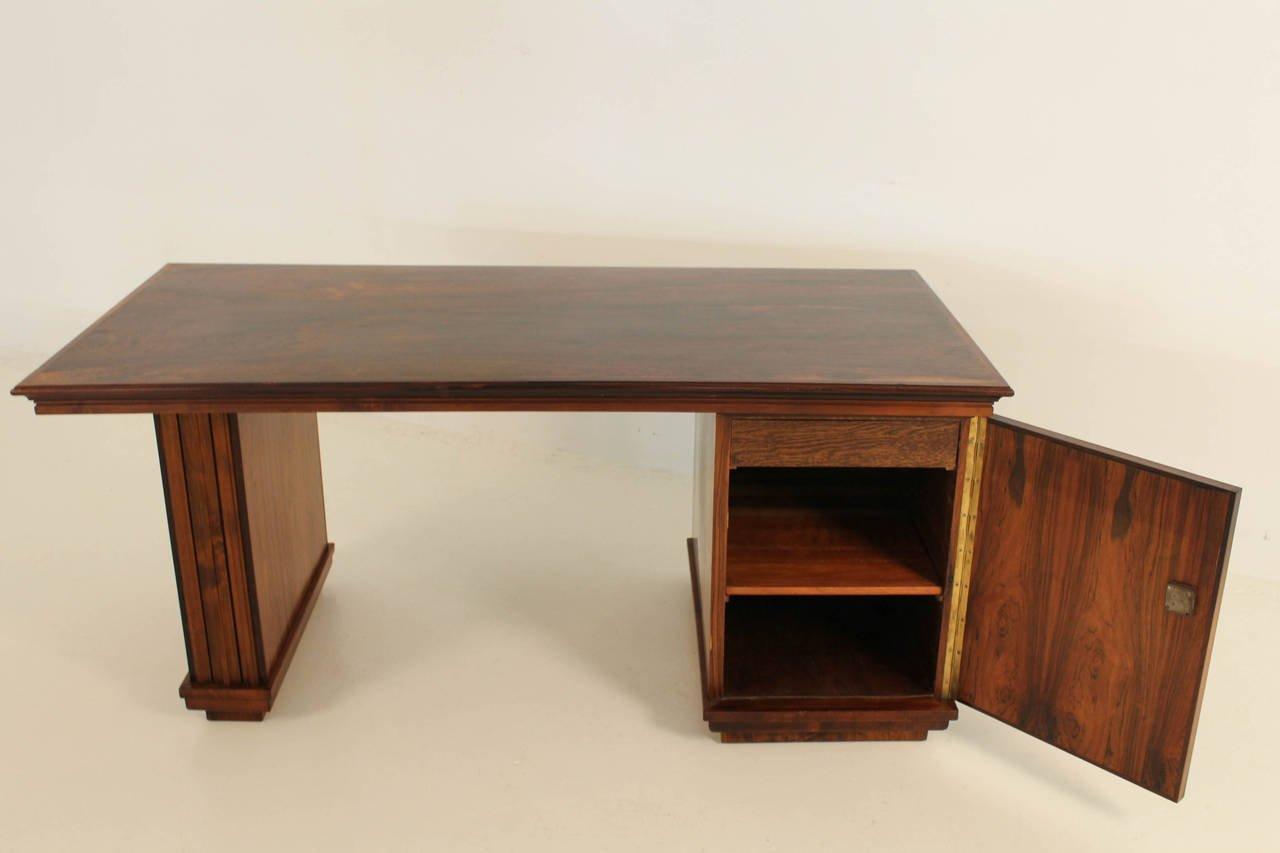 palisander art deco schreibtisch von reens amsterdam bei. Black Bedroom Furniture Sets. Home Design Ideas