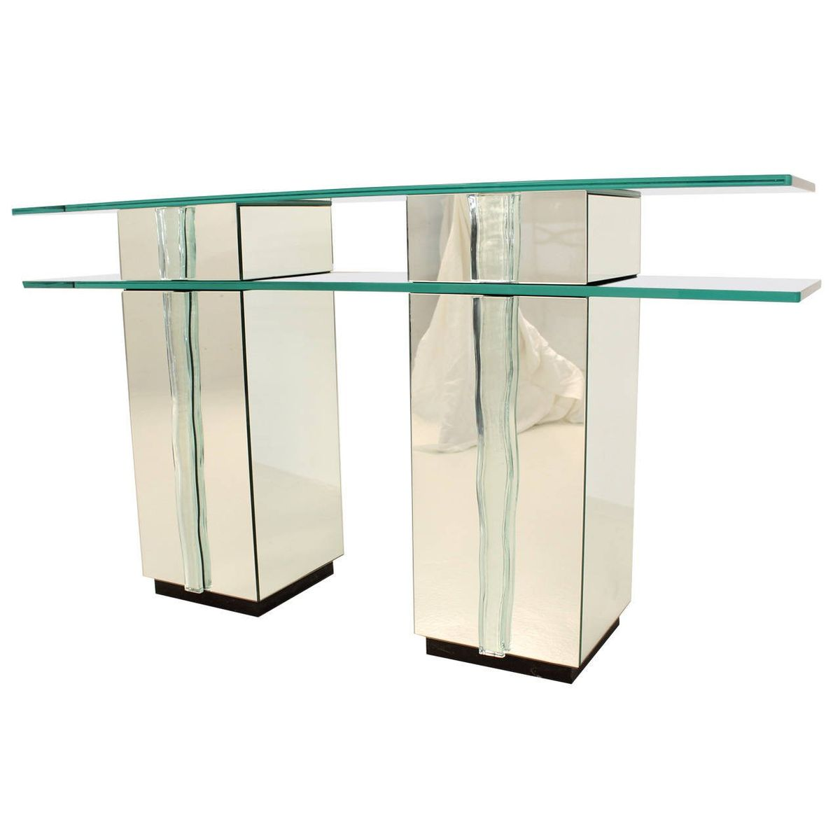 Glass console table 1980s for sale at pamono for Sofa table rules