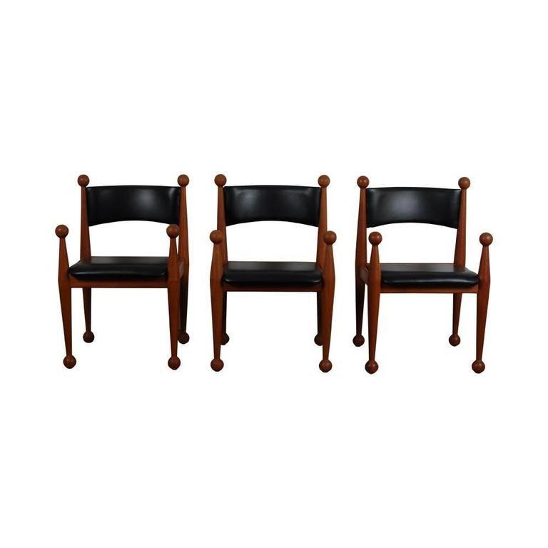 Mid Century Danish Dining Chairs in Solid Teak and Leather  : mid century danish dining chairs in solid teak and leather from cado set of 6 6 from www.pamono.com size 768 x 768 jpeg 20kB