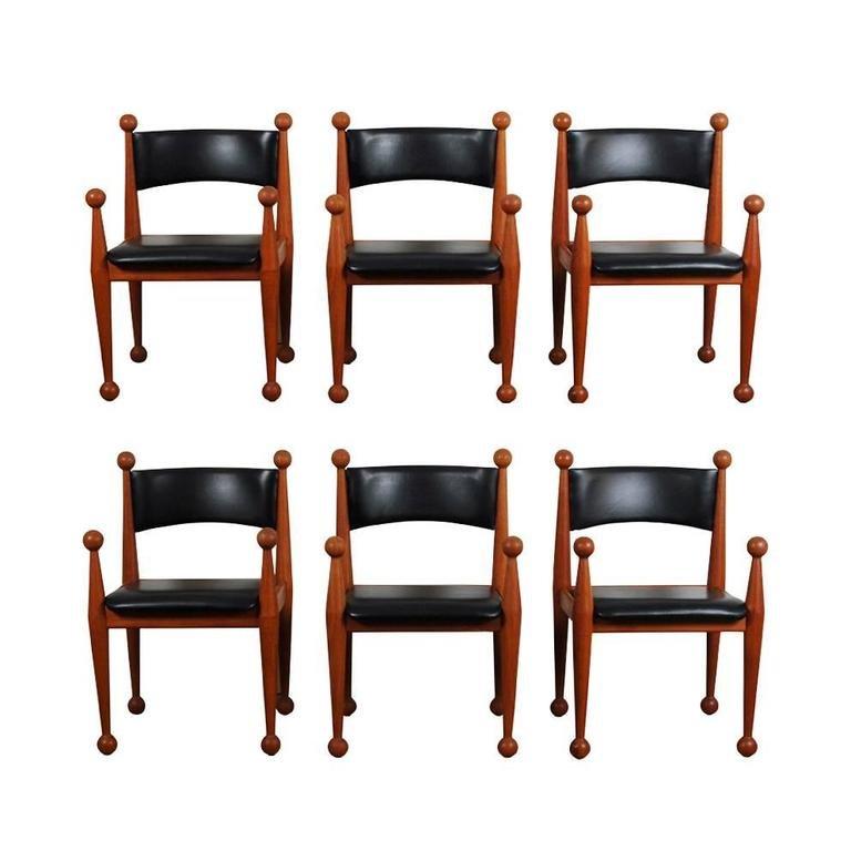 Mid Century Danish Dining Chairs in Solid Teak and Leather  : mid century danish dining chairs in solid teak and leather from cado set of 6 1 from www.pamono.com size 768 x 768 jpeg 41kB
