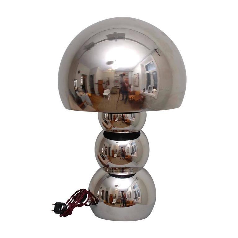 space age lampe mit chrom legierung 1970er bei pamono kaufen. Black Bedroom Furniture Sets. Home Design Ideas