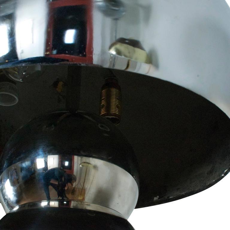 space age lampe mit chrom legierung 1970er bei pamono kaufen. Black Bedroom Furniture Sets. Home Design Ideas