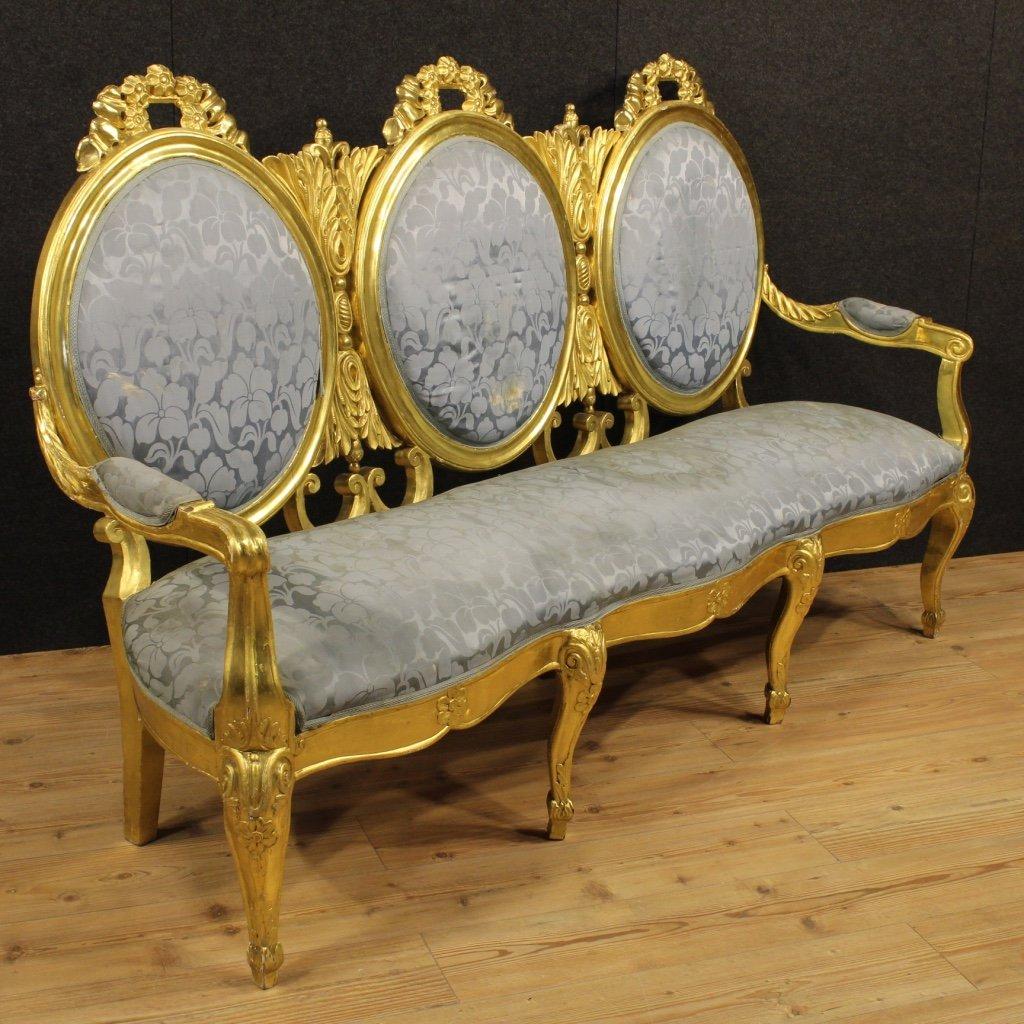 Good Italian Vintage Golden Sofa, 1950s For Sale At Pamono
