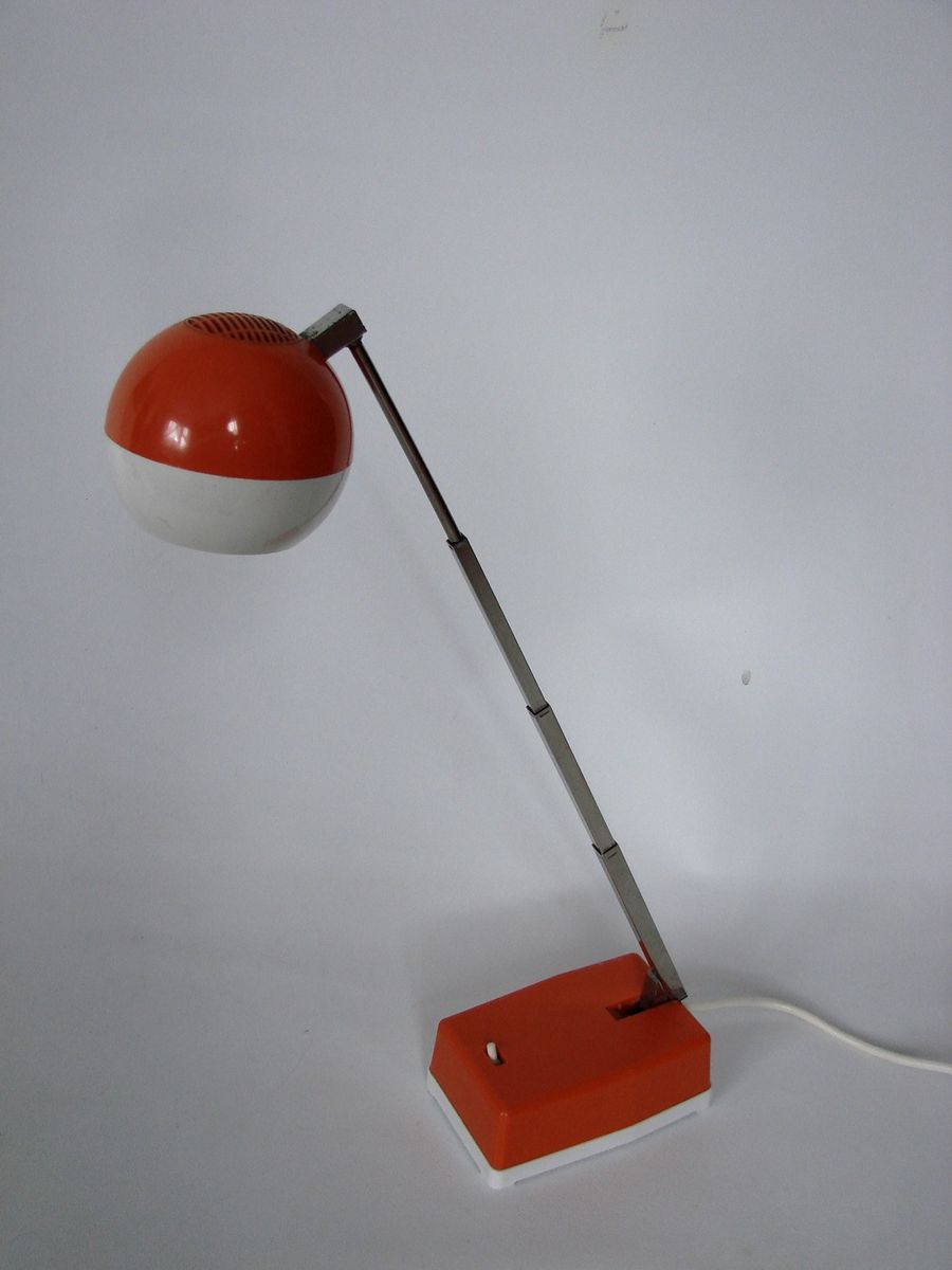 space age red table lamp 1970s for sale at pamono. Black Bedroom Furniture Sets. Home Design Ideas
