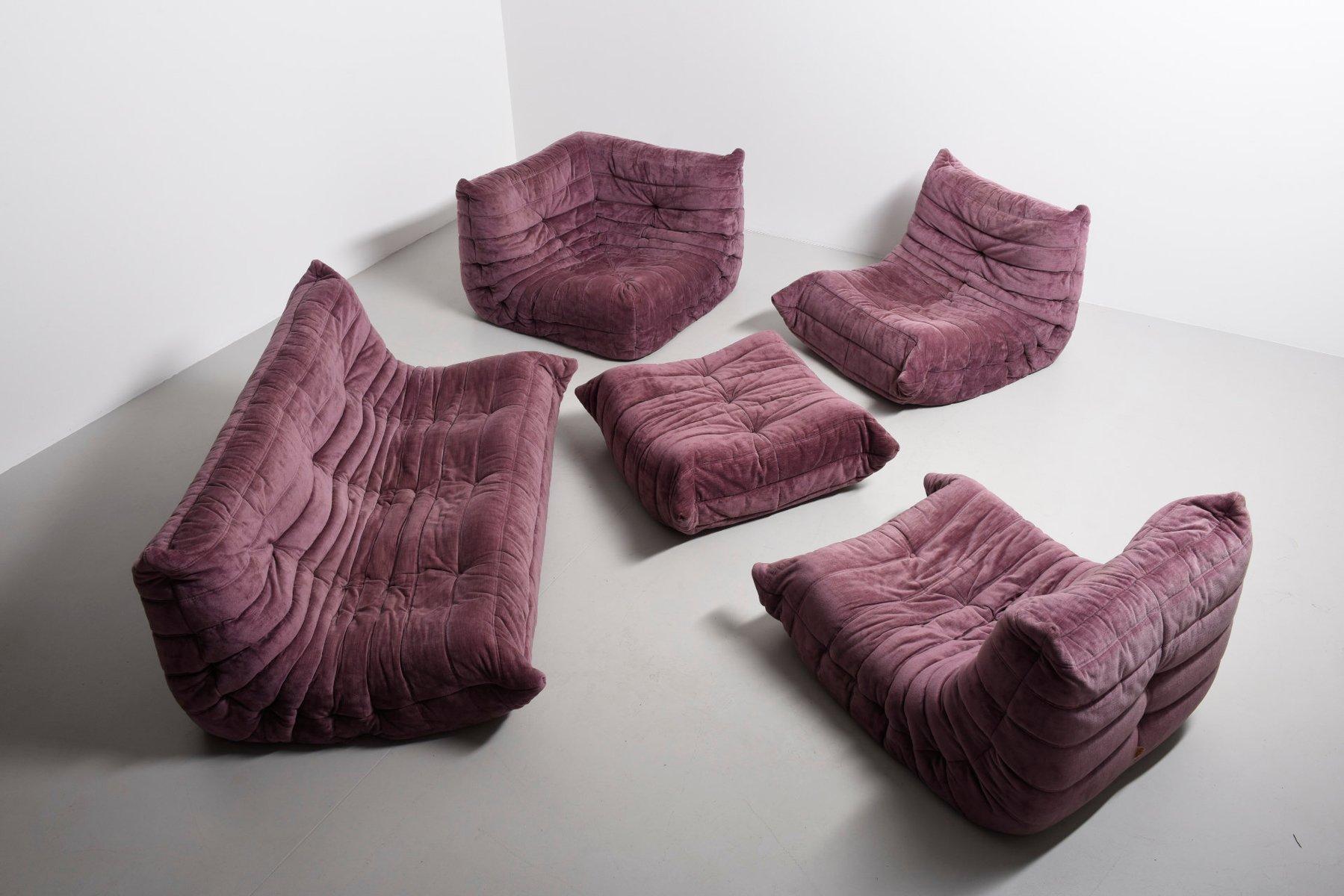 Pink Living Room Set Pink Living Room Sofa Set By Michel Ducaroy For Ligne Roset 1973