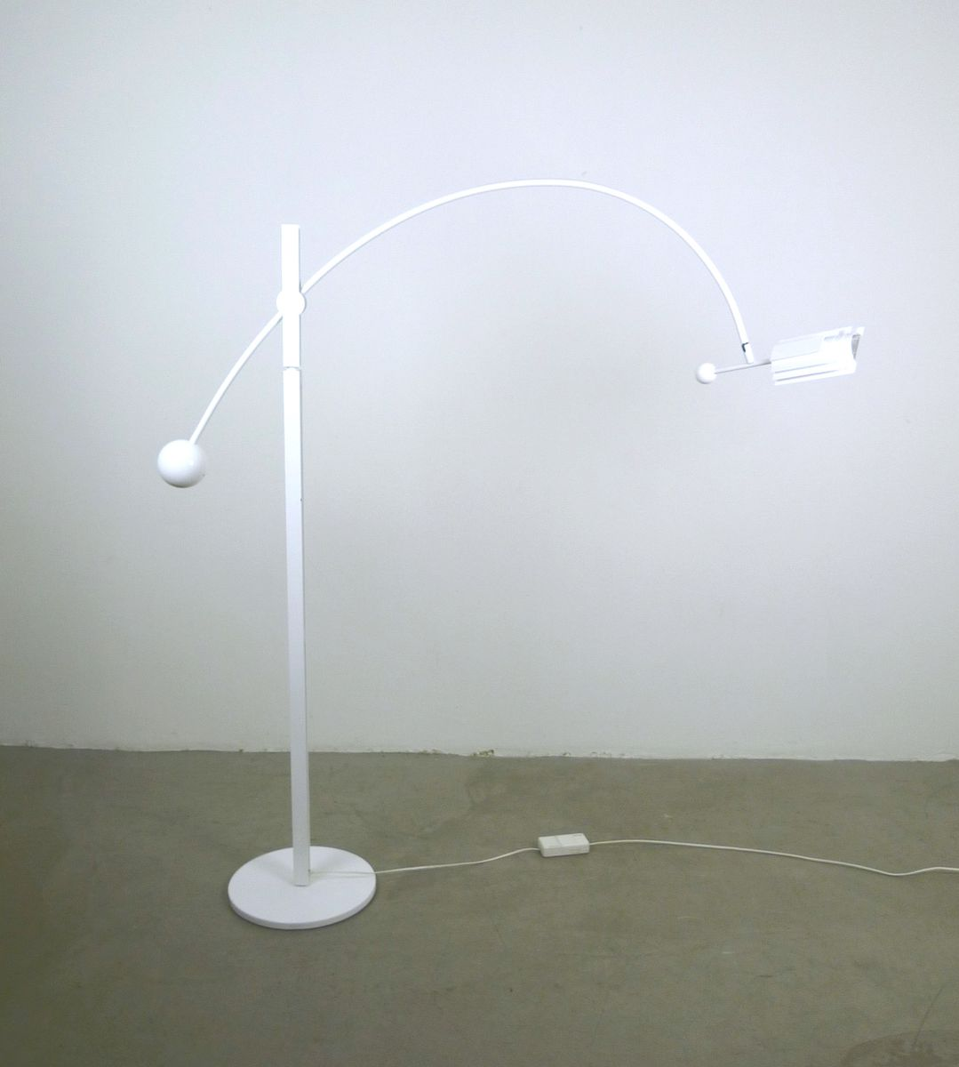Adjustable floor lamp from swisslamps 1970s for sale at pamono for 1970s floor lamps