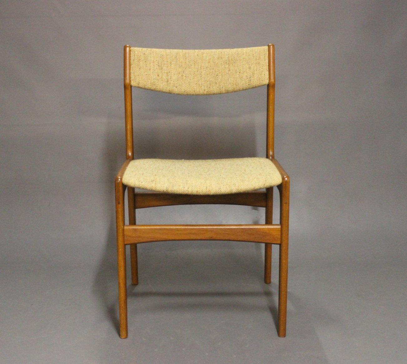 Chaises de salle manger en teck par erik buch 1960s for Salle a manger en teck
