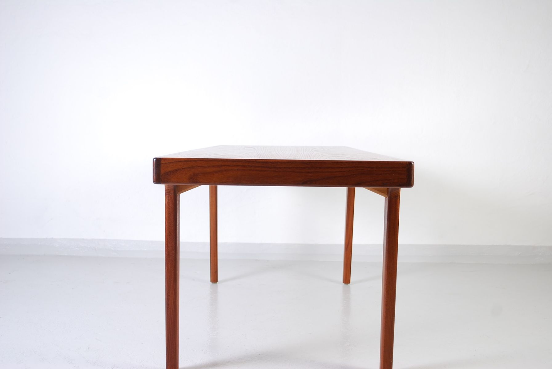 Vintage Teak Coffee Table with Detailed Sides for sale at Pamono