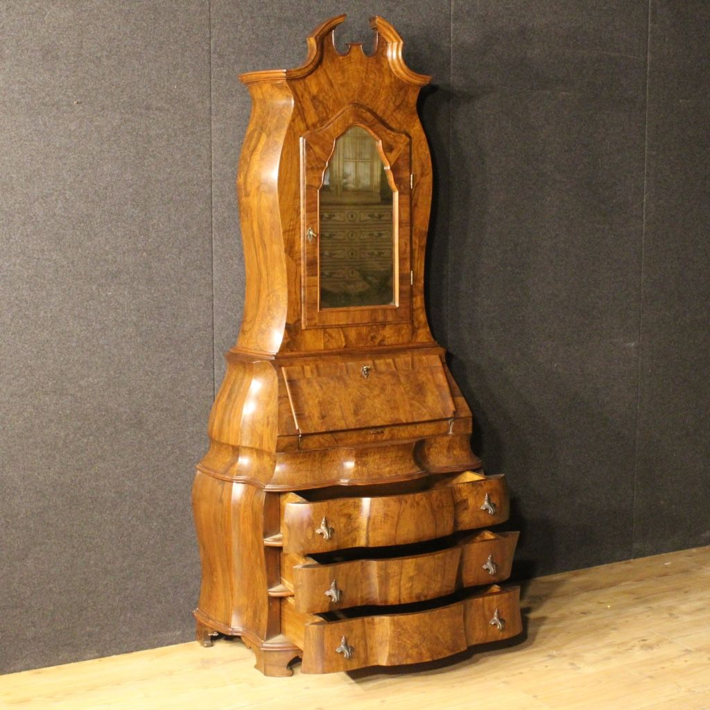 venezianischer mid century wurzel olivenholz sekret r bei pamono kaufen. Black Bedroom Furniture Sets. Home Design Ideas