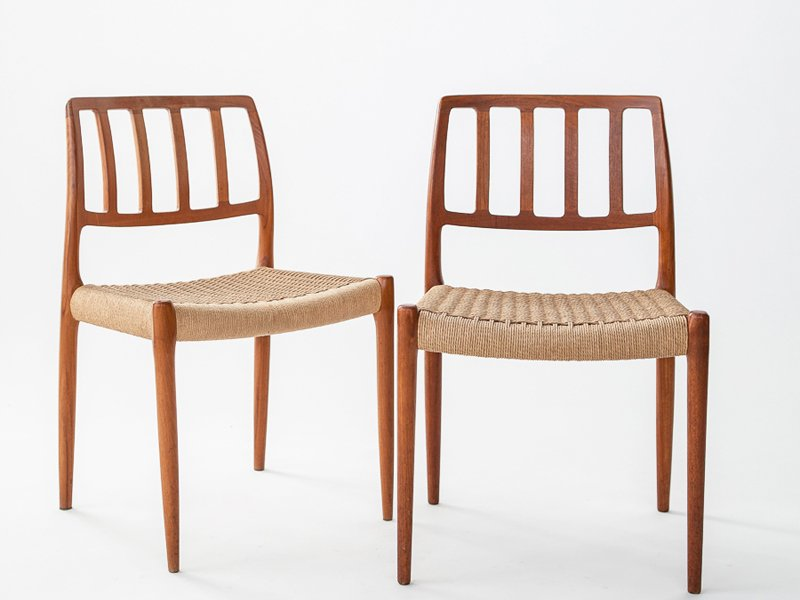 Vintage Solid Teak Chairs with Cord Seating by N O  : vintage solid teak chairs with cord seating by n o moller for jl miller s furniture set of 4 1 from www.pamono.com size 800 x 600 jpeg 214kB