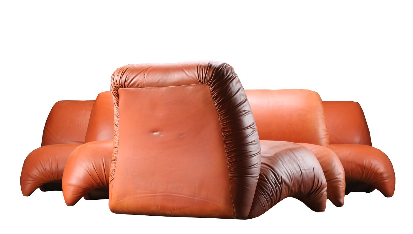 Mid Century Modern Leather Part - 50: Mid-Century Modern Lounge Chair In Cognac Leather 4. $1,529.00. Price Per  Piece