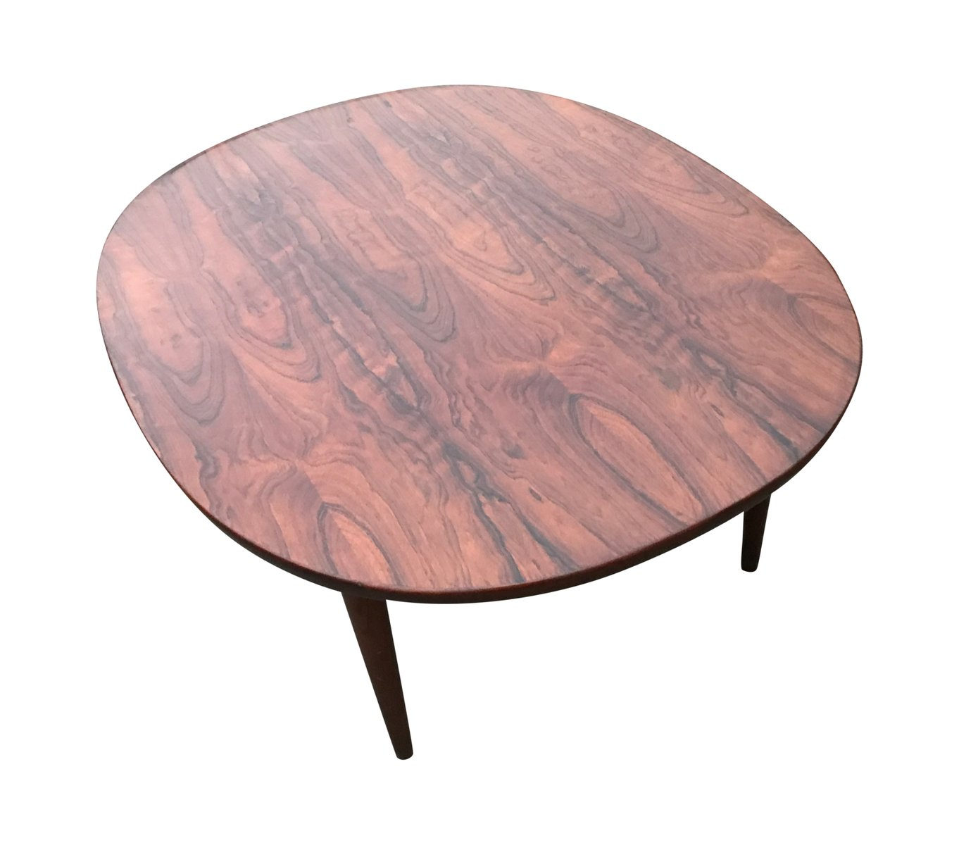 Vintage oval rosewood coffee table for sale at pamono Oval shaped coffee table