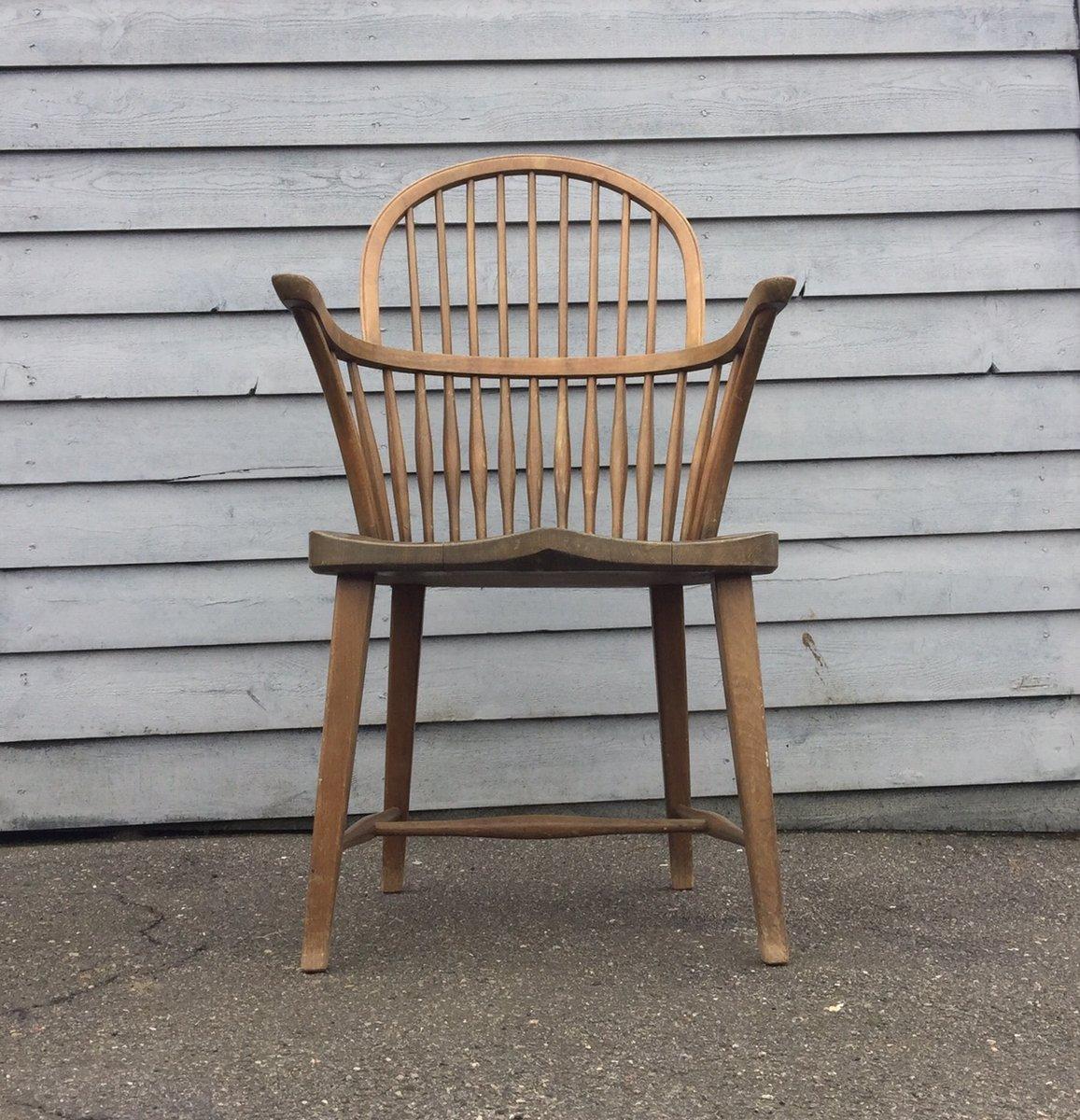 ch 18a windsor eichenholz stuhl mit hoher r ckenlehne von. Black Bedroom Furniture Sets. Home Design Ideas