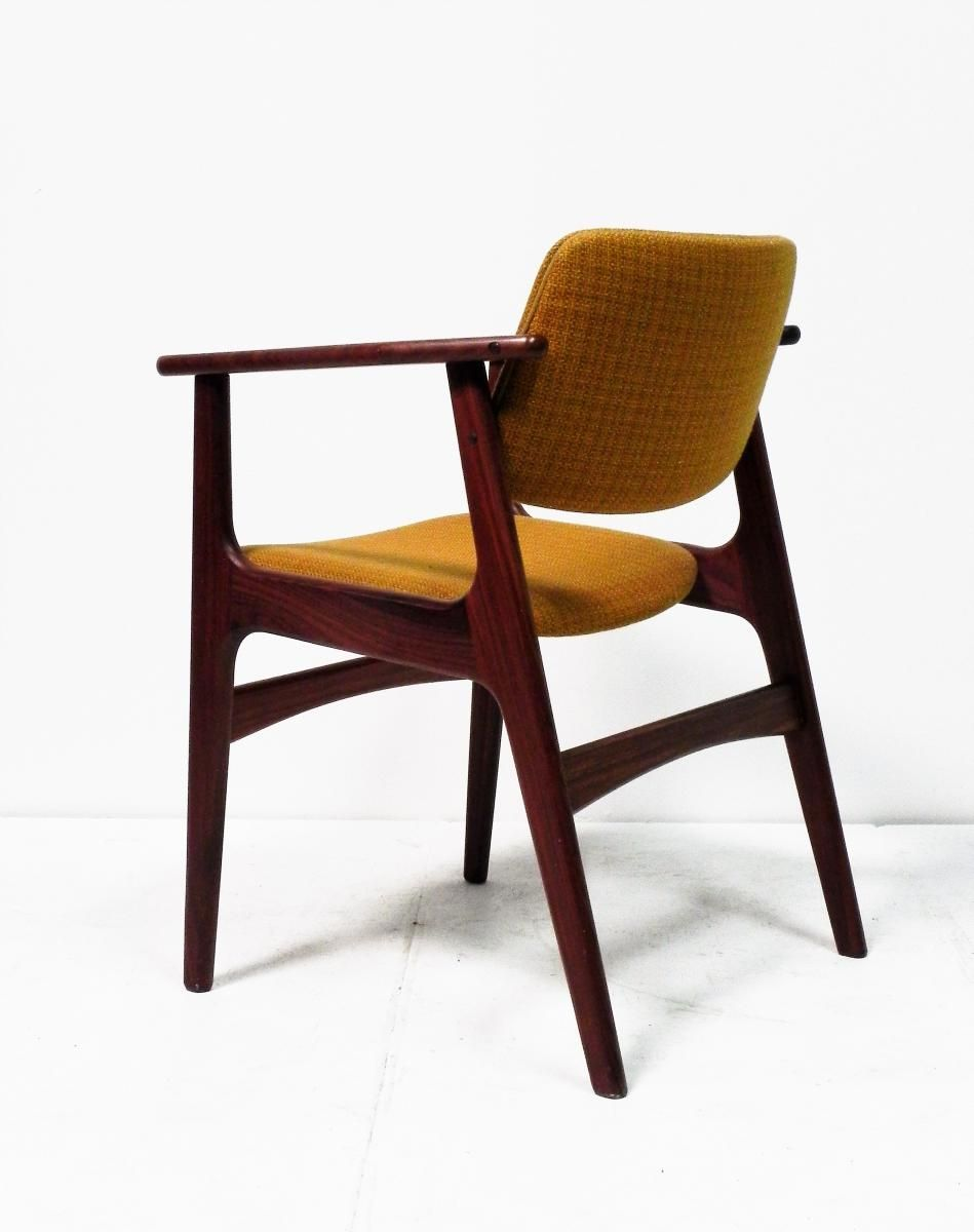 Scandinavian solid teak desk chair for sale at pamono - Scandinavian chair ...