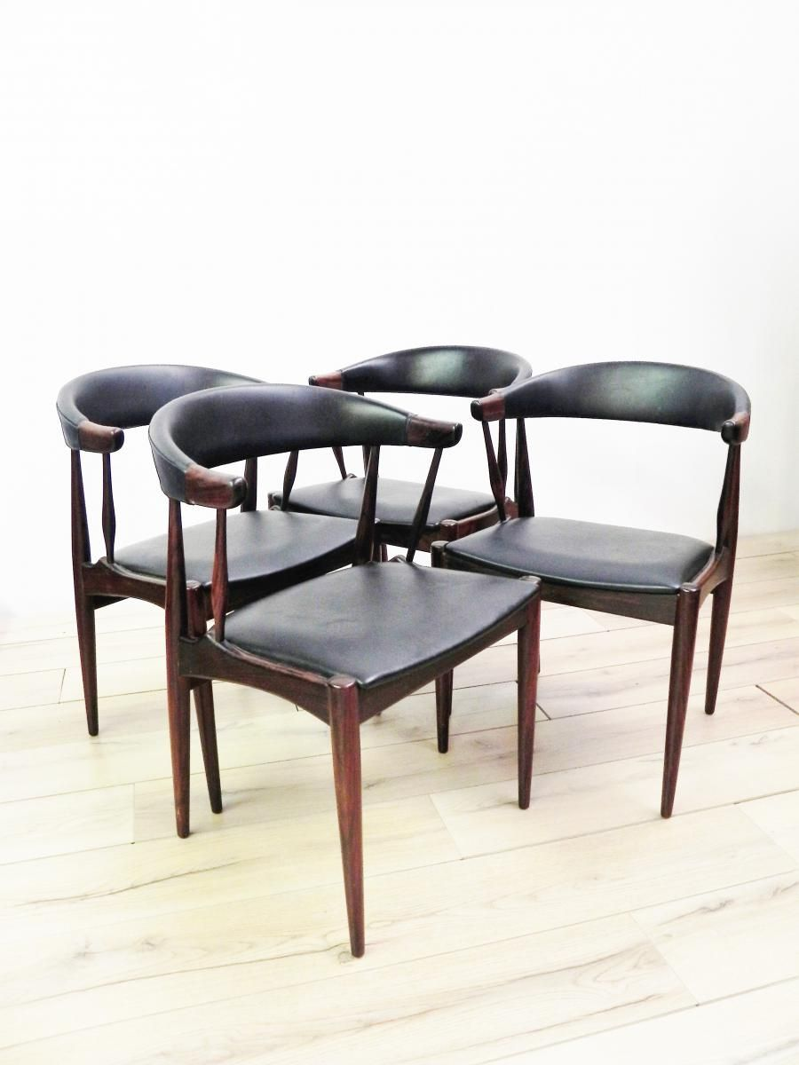 Teak Dining Chairs by Johannes Andersen for BRDR Andersen Vejen, Set of 4 for sale at Pamono