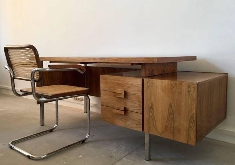 Schreibtisch vintage  Dänischer Moderner Vintage Palisander Schreibtisch mit ...