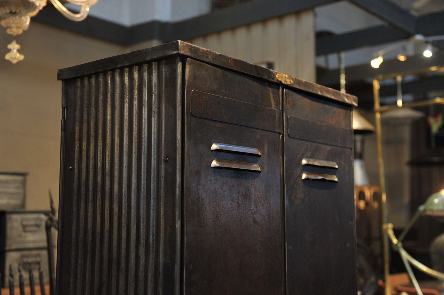 Industrial metal wardrobe from strafor 1930s for sale at pamono - Armoire metal alinea ...