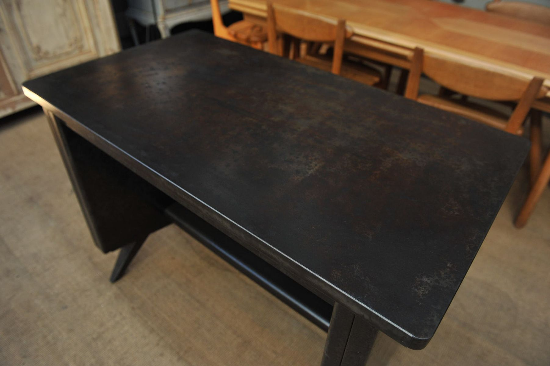 Small industrial metal desk 1950s for sale at pamono Small steel desk