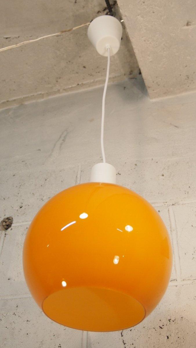 suspension luminaire orange vintage en verre de venini en vente sur pamono. Black Bedroom Furniture Sets. Home Design Ideas