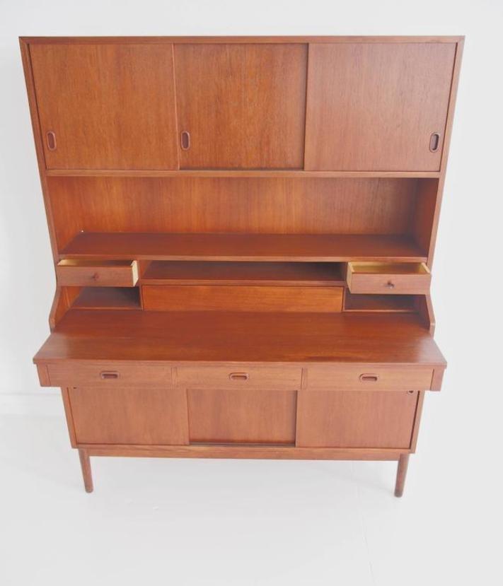 d nischer gro er mid century modern teak sekret r bei pamono kaufen. Black Bedroom Furniture Sets. Home Design Ideas