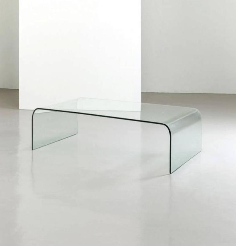 Italian Minimal Crystal Coffee Table From Fiam, 1980s