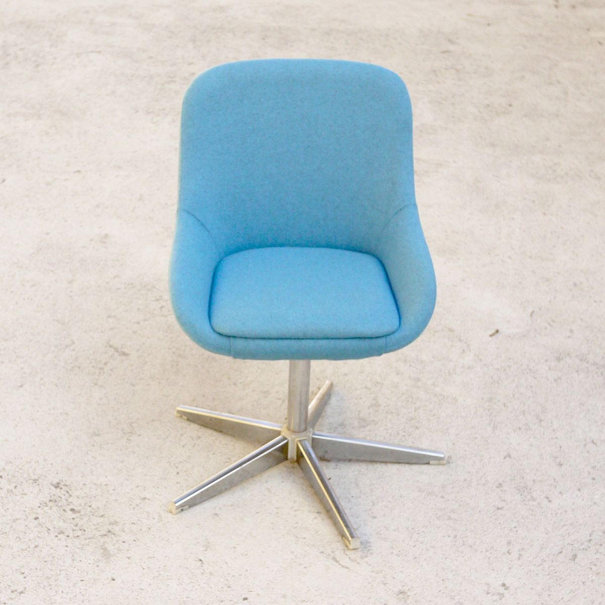 Soft padded sky blue office chair 1970s for sale at pamono for Blue office chair