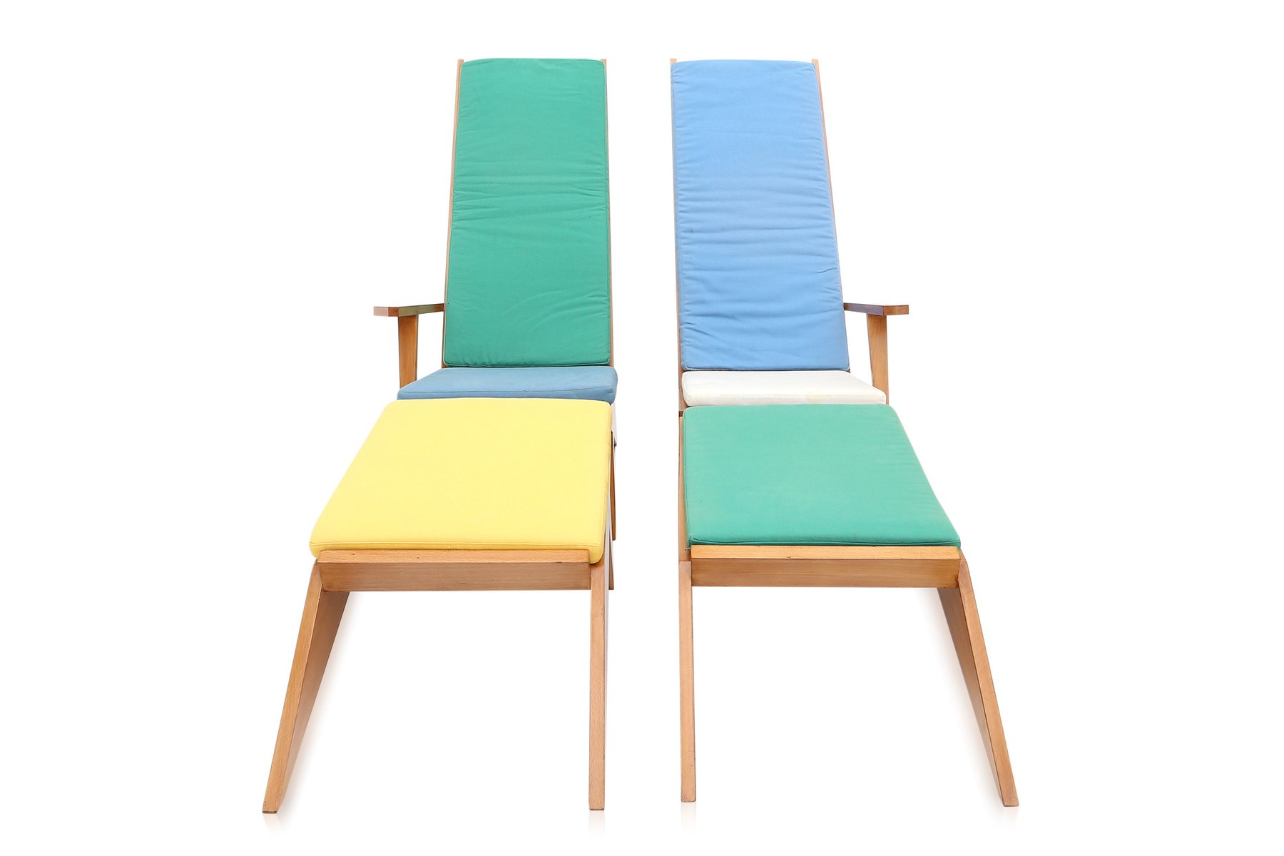 Vintage Italian Swimming Pool Lounge Chairs 1970s For