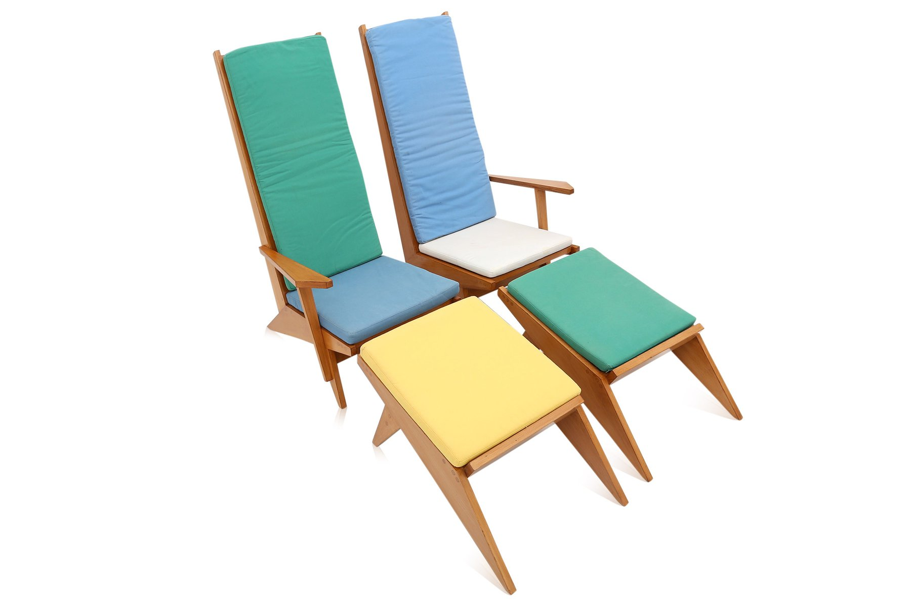 Vintage Italian Swimming Pool Lounge Chairs 1970s for sale at Pamono