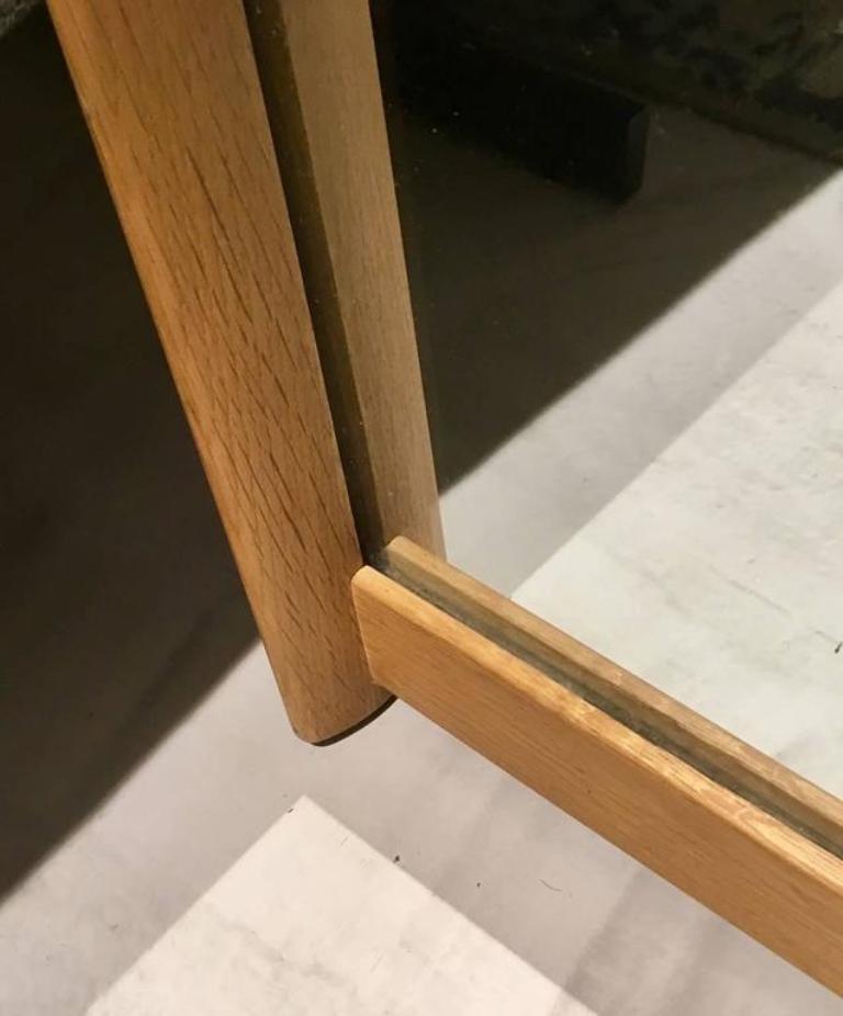 wandspiegel mit rahmen aus eichenholz von aksel kjersgaard f r odder m bler bei pamono kaufen. Black Bedroom Furniture Sets. Home Design Ideas