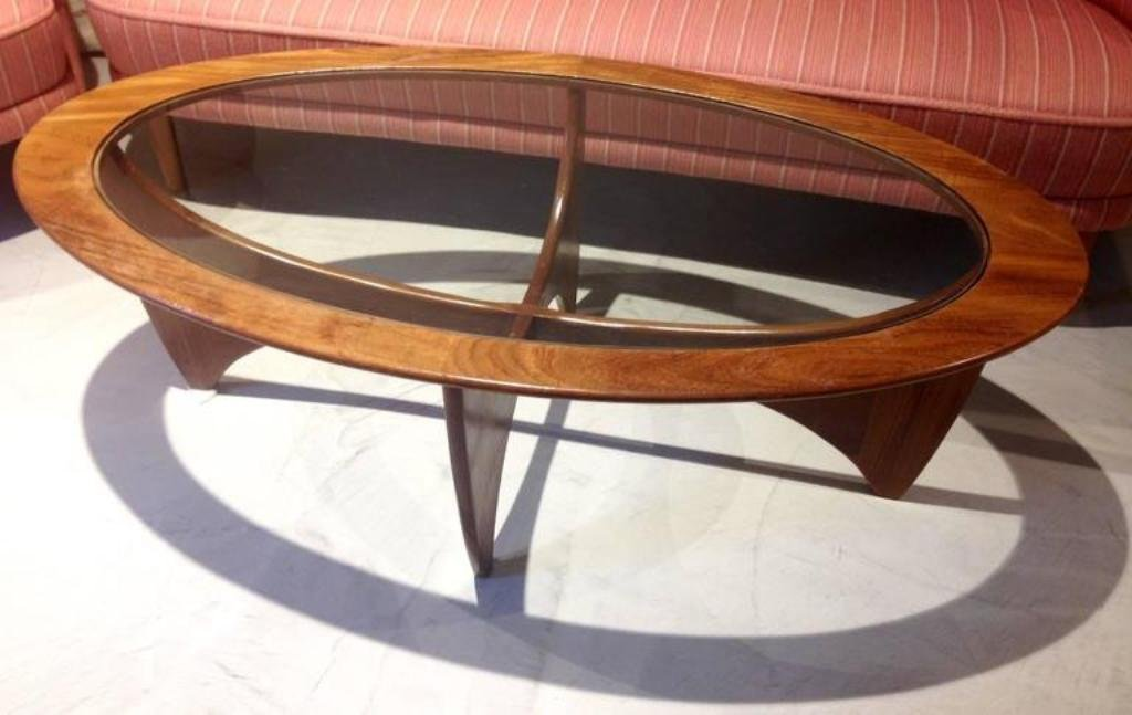 Oval Teak Coffee Table With Glass Top From G Plan 1960s For Sale At Pamono