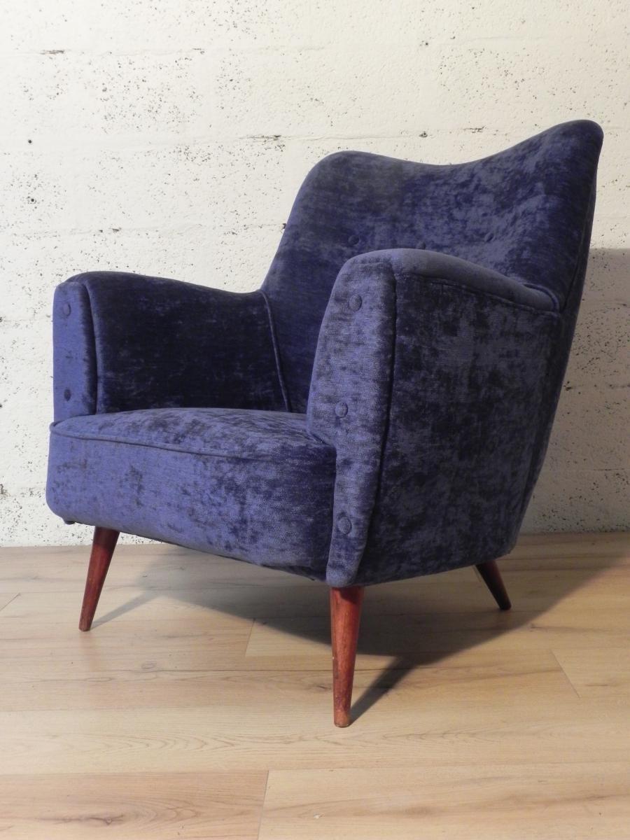 fauteuil club vintage scandinave en vente sur pamono. Black Bedroom Furniture Sets. Home Design Ideas
