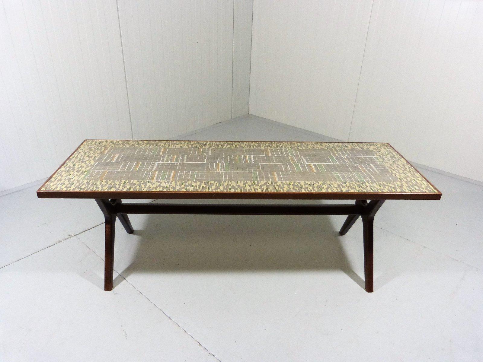 table basse mosa que par berthold m ller oerlinghausen 1950s en vente sur pamono. Black Bedroom Furniture Sets. Home Design Ideas