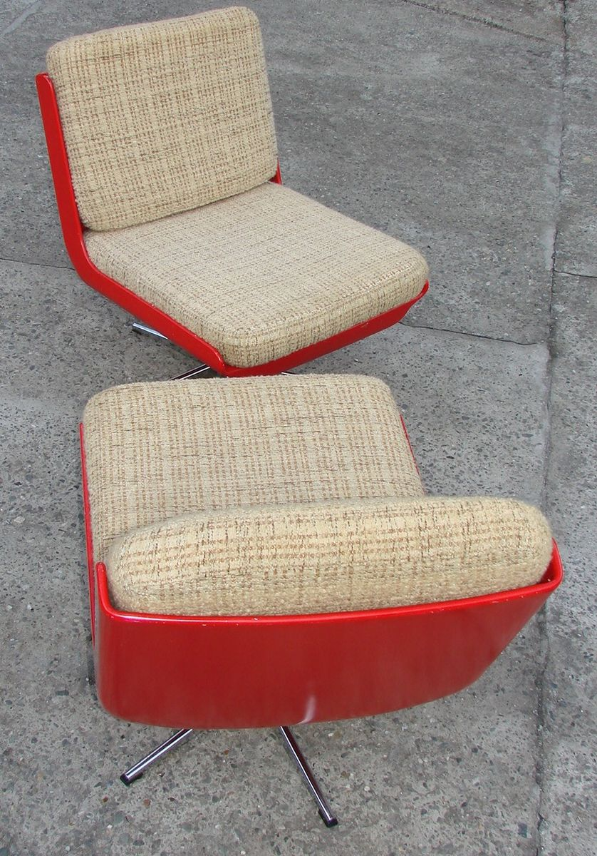 Space Age Furniture Vintage Space Age Swivel Chairs 1970s Set Of 2 For Sale At Pamono