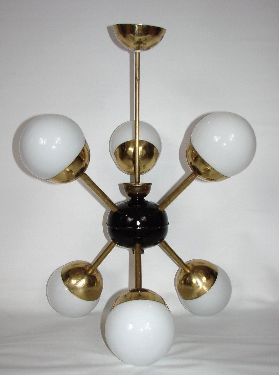 sputnik kronleuchter mit sechs leuchten bei pamono kaufen. Black Bedroom Furniture Sets. Home Design Ideas