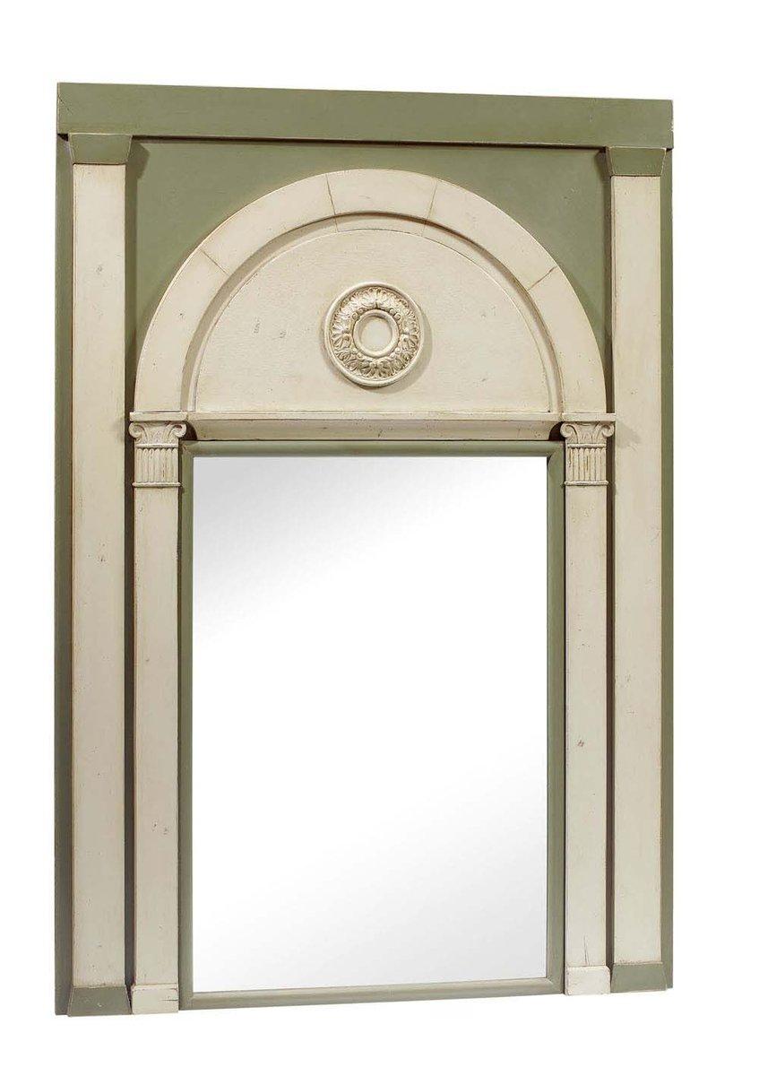 spiegel mit geschwungenem zweifarbigen rahmen bei pamono. Black Bedroom Furniture Sets. Home Design Ideas