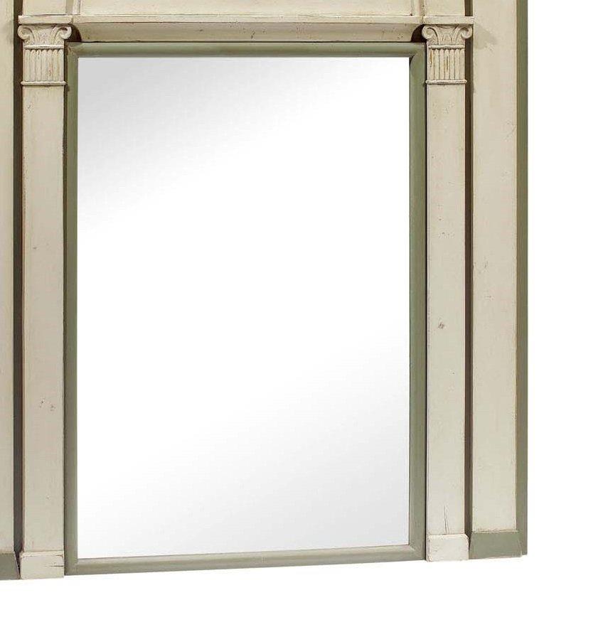 spiegel mit geschwungenem zweifarbigen rahmen bei pamono kaufen. Black Bedroom Furniture Sets. Home Design Ideas