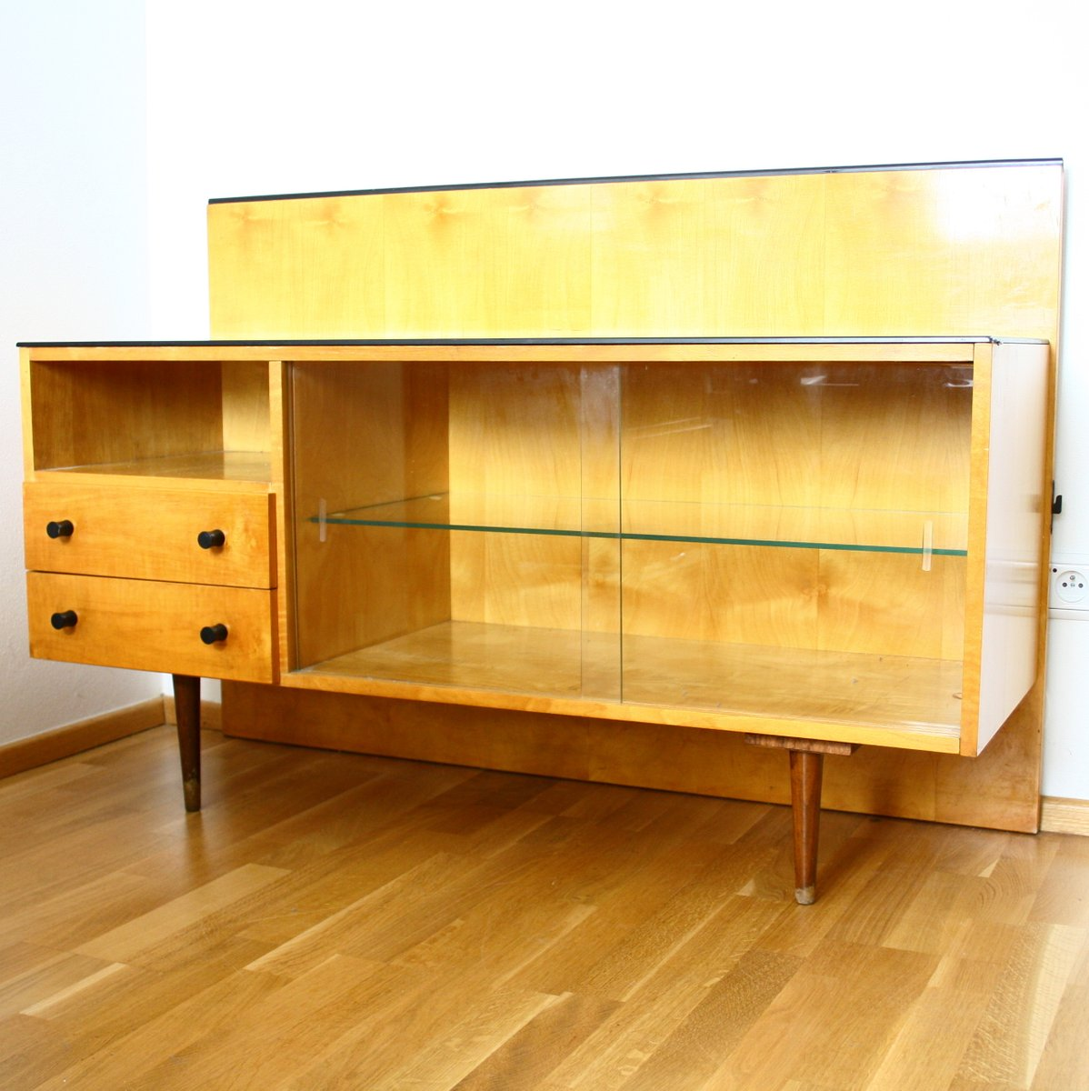 Vintage klivie bedroom cabinet and table from up zavody for Bedroom cabinets for sale