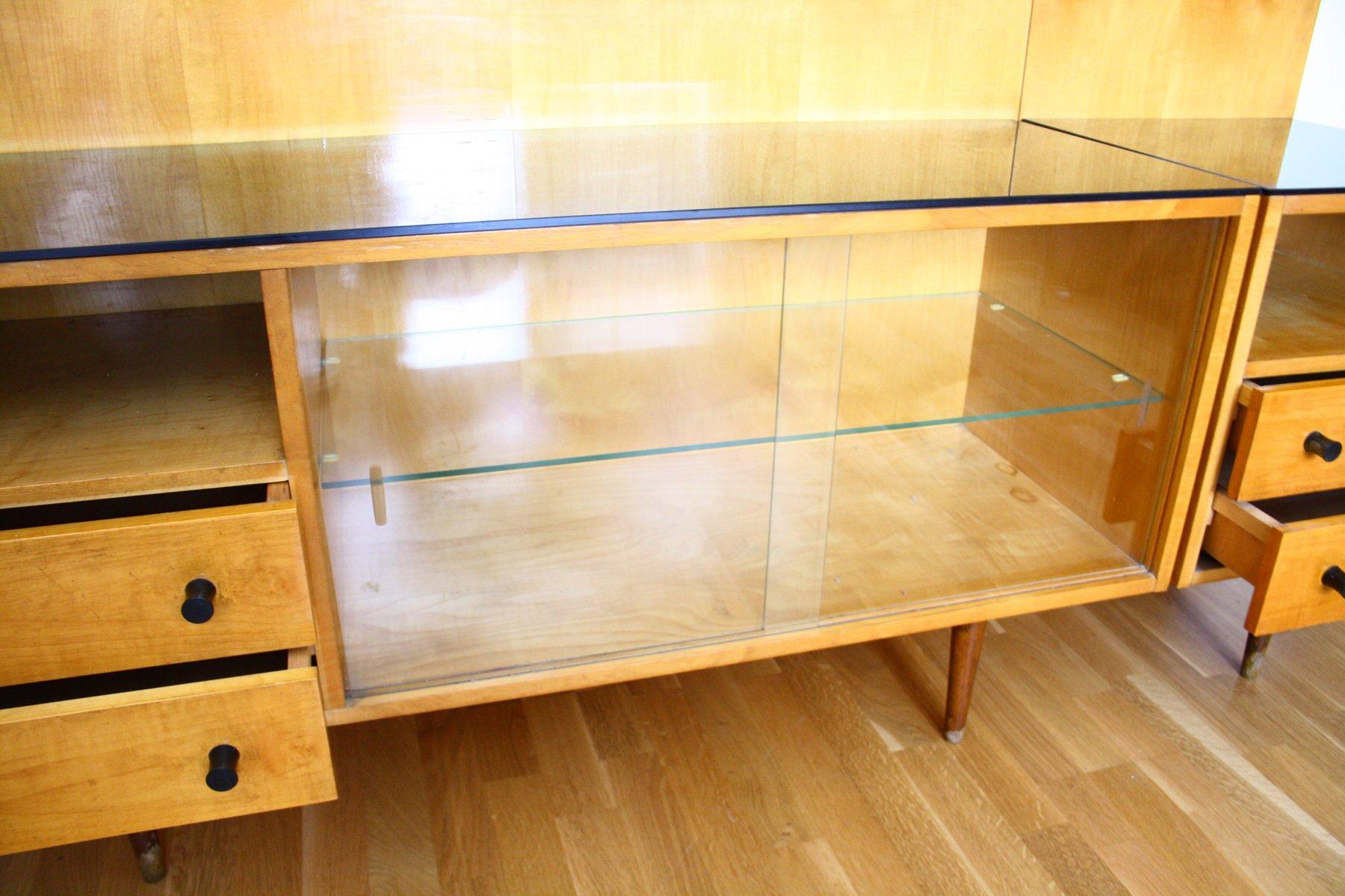 vintage klivie schlafzimmerschrank und tisch von up zavody 1960er 2er set bei pamono kaufen. Black Bedroom Furniture Sets. Home Design Ideas