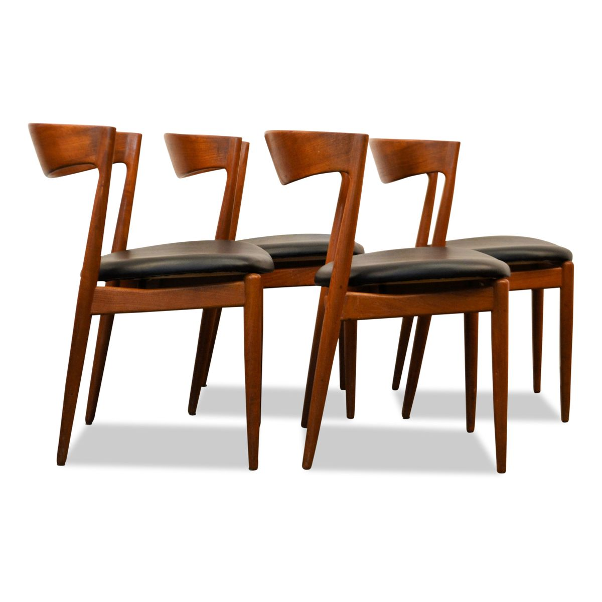 mid century dining chairs by renc gabriel set of 4 for sale