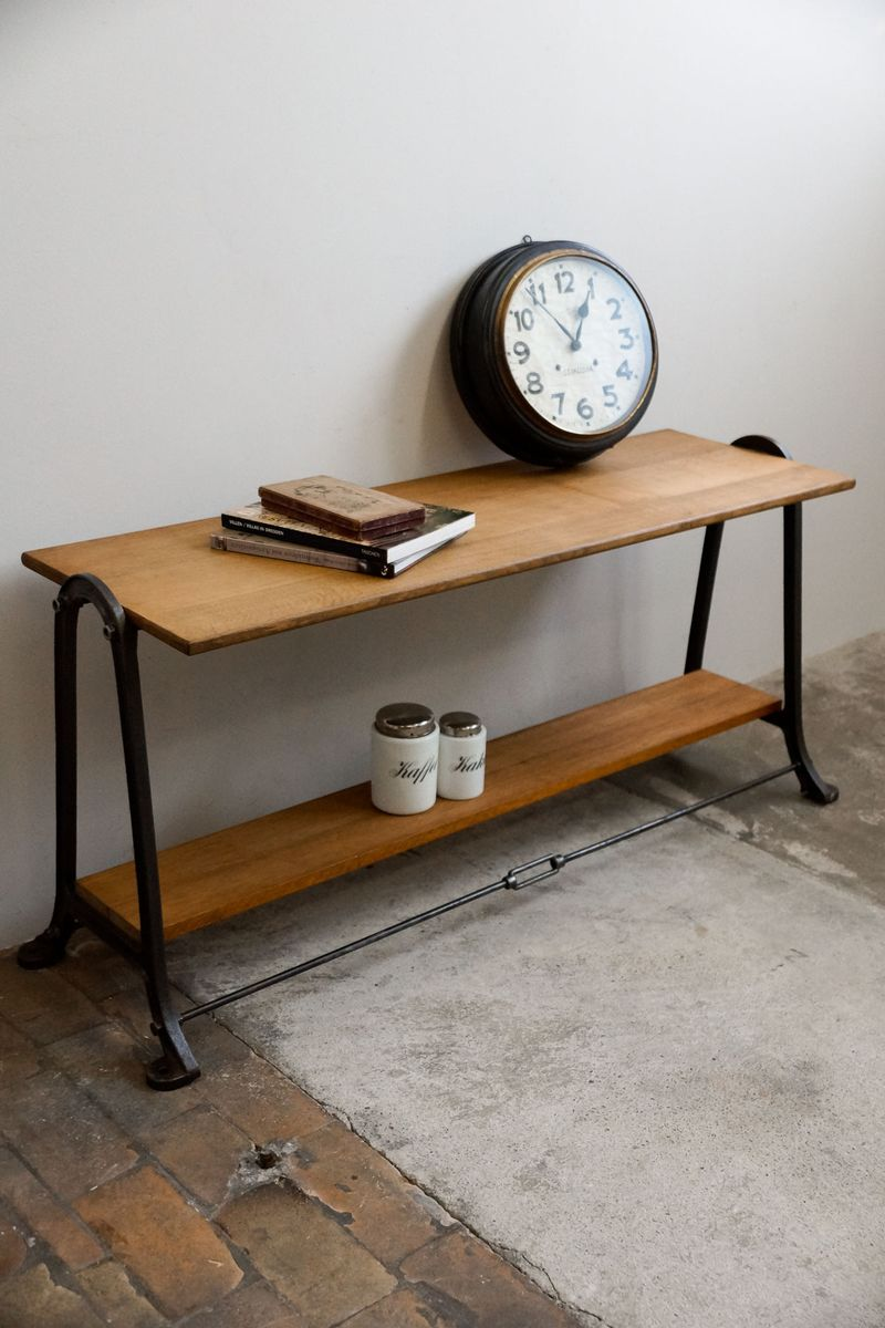 Belgian Industrial Cast Iron Table