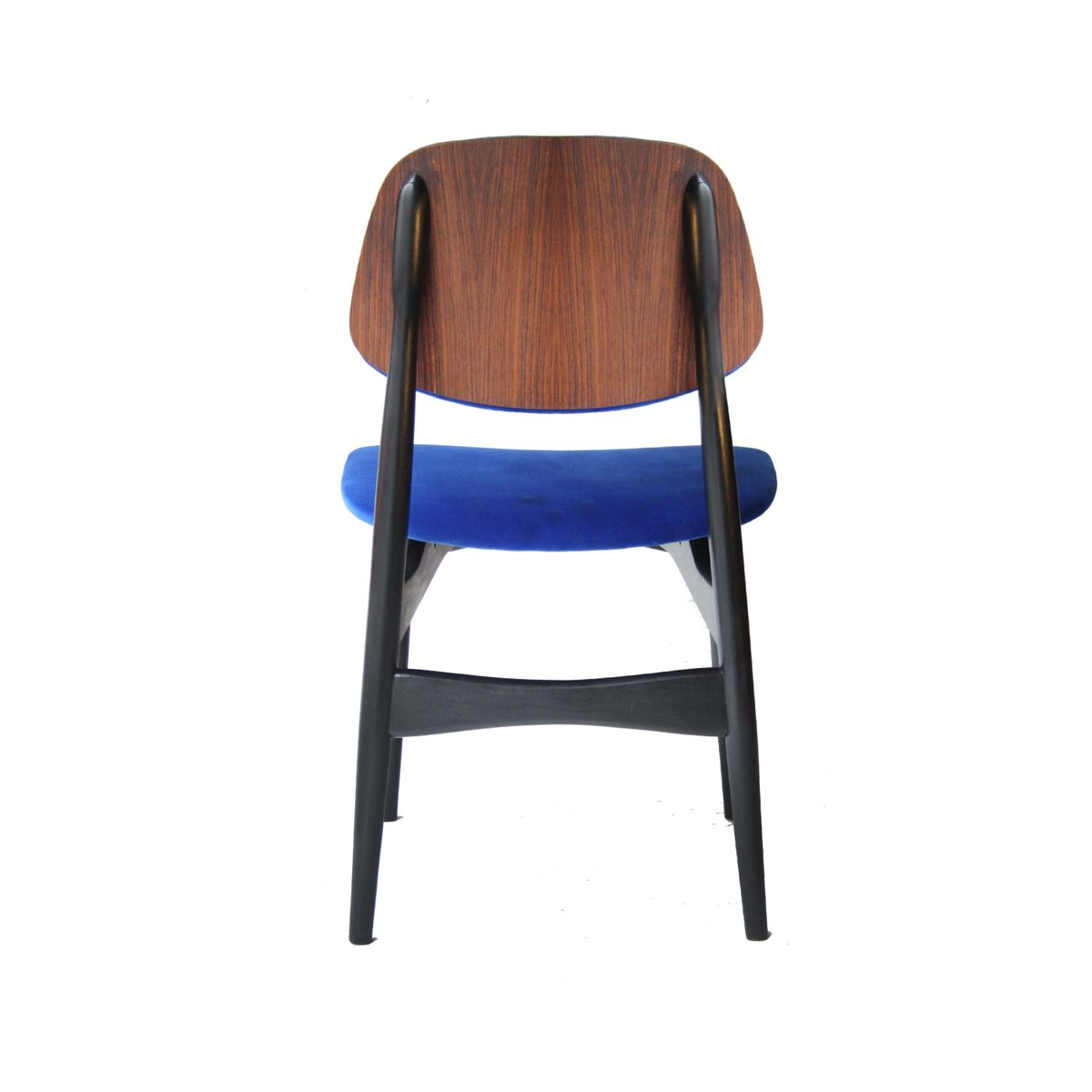 Vintage italian blue chairs set of 4 for sale at pamono for Chair in italian