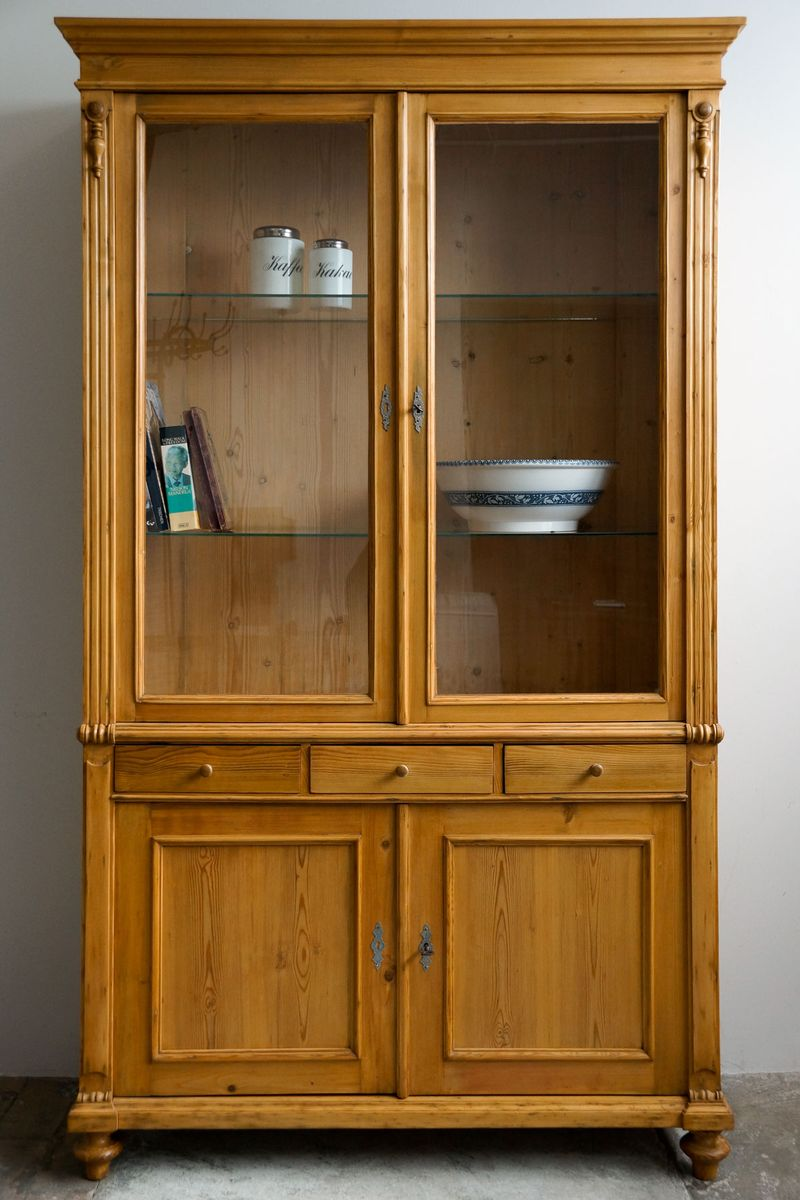 Large antique display cabinet for sale at pamono for Antique display cabinet